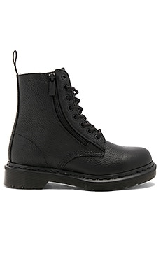 Pascal 8 Eye Boots in Black