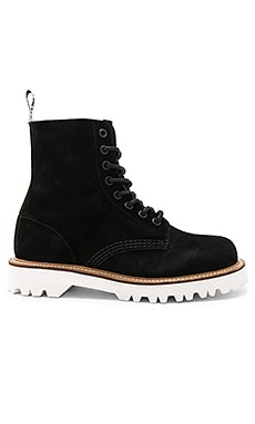 Pascal II 8 Eye Boot in Black