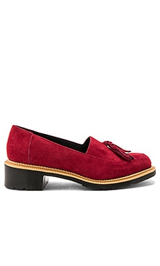 Favilla II Tassel Slip On Shoe in Dark Red