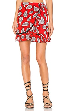 Milo Skirt in Red Paisley