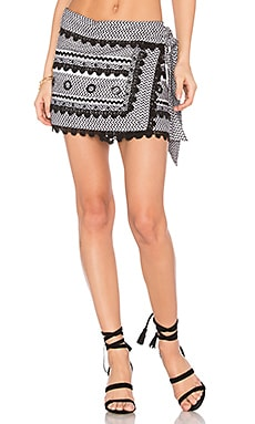 Aviya Mini Skirt in Black & White