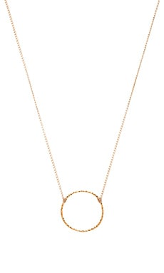 Dogeared Medium Karma Sparkle Necklace in Gold Dipped