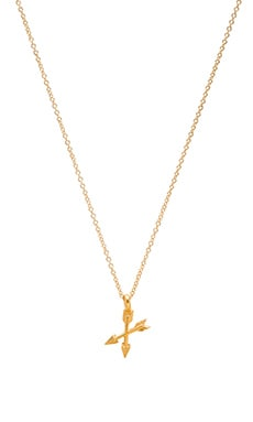 Dogeared Friends Forever Necklace Charm in Gold Dipped