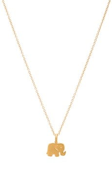 Dogeared Good Luck Necklace Charm in Gold Dipped