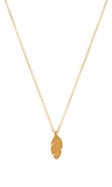 Dogeared Light As A Feather Necklace Charm in Gold Dipped