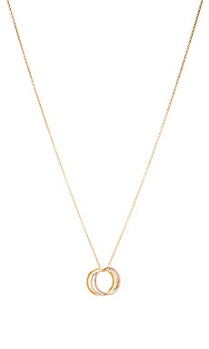 Dogeared Triple Karma Ring Necklace in Gold Dipped