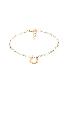 Dogeared Lucky Horseshoe Bracelet Charm in Gold Dipped
