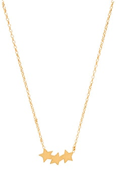 Dogeared Three Wishes Triple Star Necklace in Gold Dipped