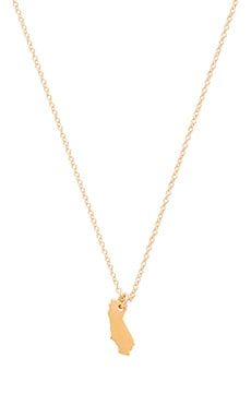 Dogeared I Love California Necklace Charm in Gold Dipped