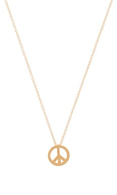 Dogeared Peace Necklace Charm in Gold Dipped