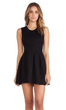 dolan Inverted Pleat Dress in Black
