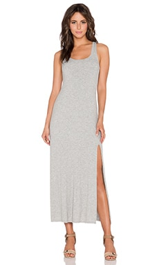 dolan Tank Maxi Dress With Front Slit in Silver