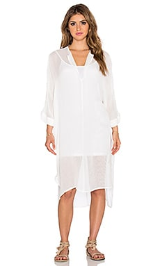 dolan Split Neck Caftan in White
