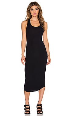 dolan Sleeveless Crew New Slip Dress in Black