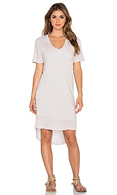 dolan V Neck T-Shirt Dress in Chime