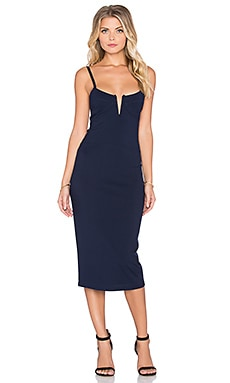 dolan Bodycon Slip Dress in Deep