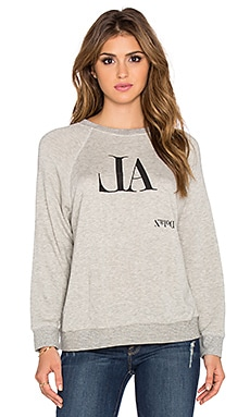 dolan Distressed Raglan Sweatshirt in Granite