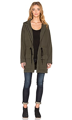 dolan Cowl Back Parka Jacket in Trouble