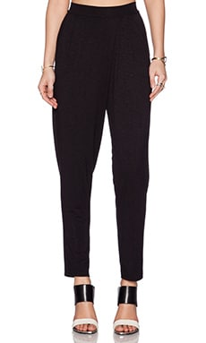 dolan Pleated Cross Front Pant in Black