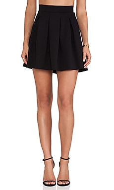 dolan Pleated Skater Skirt in Black