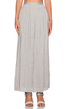 dolan Pleated Column Maxi Skirt in It Heather Grey