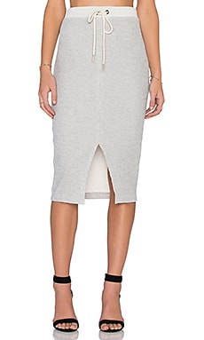 dolan Front Split Midi Skirt in Gris