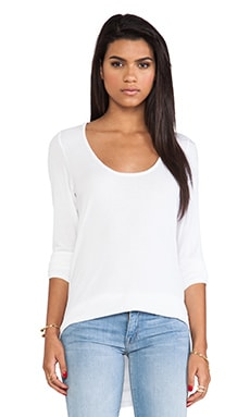 dolan 2x1 Rib Long Sleeve Tee in White