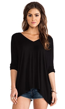 dolan Oversize Square Tee in Black