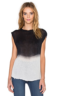 dolan Mock Neck Tank in Khol & Dove