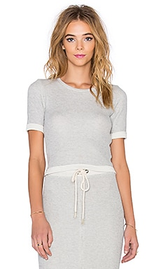 3/4 Sleeve Crop Top in Gris