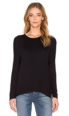 dolan Long Sleeve Boyfriend Tee in Black