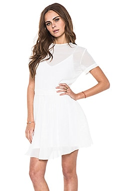 DV by Dolce Vita Scott Short Sleeve Dress in White