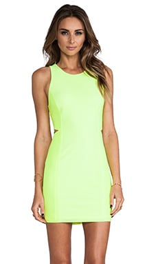 DV by Dolce Vita Pernita Dress in Neon Yellow