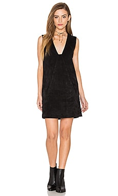 Stella Suede Dress en Noir