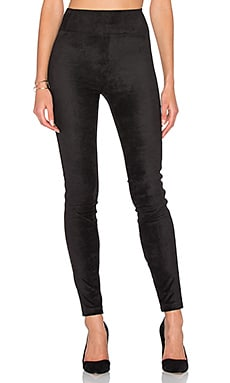 Daphne Legging in Black Suede