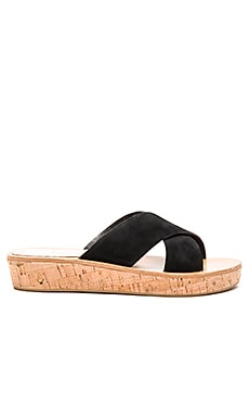Monica Sandal in Black Suede