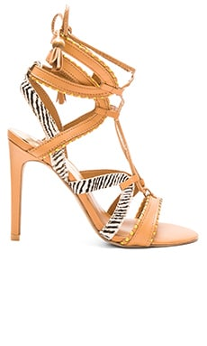 Haven Cow Hair Heel in Caramel Multi