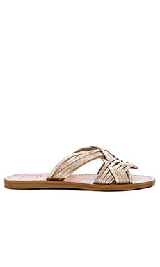 Jacey Sandal en Light Gold Leather