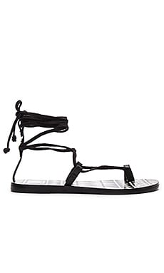 Chandler Sandal in Black Leather