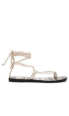 Dolce Vita Chandler Sandal in Off White Leather