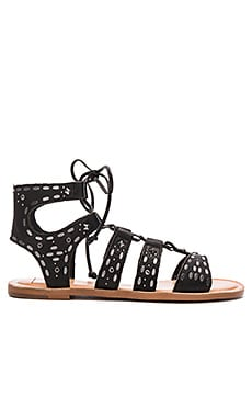 Dolce Vita Jazzy Sandal in Black Leather
