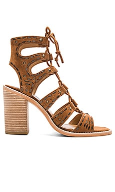 Lyndie Sandal Suede in Dark Saddle