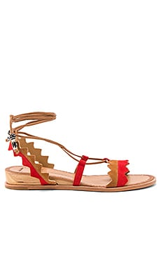 Pedra Sandal in Red Multi
