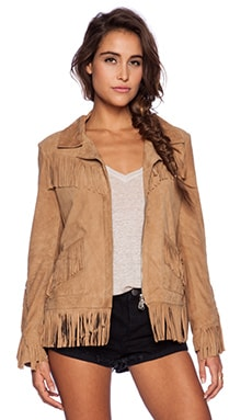 DOMA Fringe Jacket in Beige