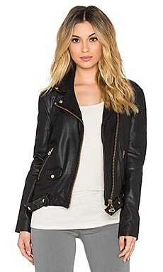 DOMA Leather Boyfriend Jacket in Black
