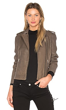 Biker Jacket in Army Green