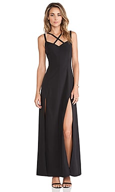 Donna Mizani Cross Front Gown in Black