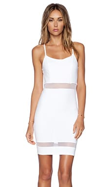 Donna Mizani Mini Cami Dress in White