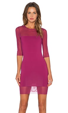 Half Sleeve Mini Dress in Berry
