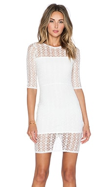 Donna Mizani Orbit Mini Dress in Ivory